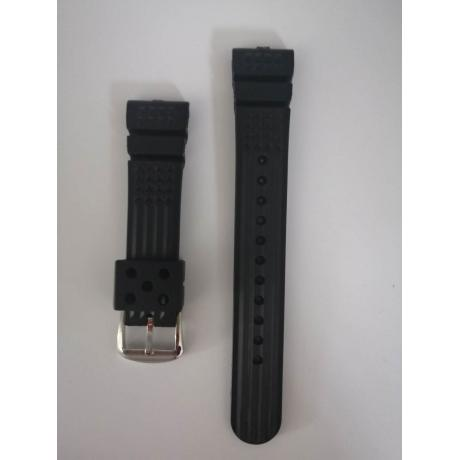 HIMQ MM300 SBDX001/012/01 6105 SOFT Rubber Waffle Watch Band for 22MM
